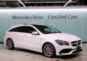 Mercedes-AMG CLA45 4MATIC シューティングブレーク AMGアドバンストパッケージ (カルサイトホワイト)