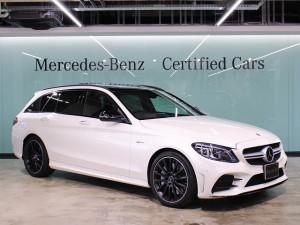 Mercedes-AMG C43 4MATIC ステーションワゴン / パノラミックスライディングルーフ (ダイヤモンドホワイト)